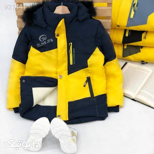 کاپشن ویژه نوجوانان  زرد لباس کودک پسرانه