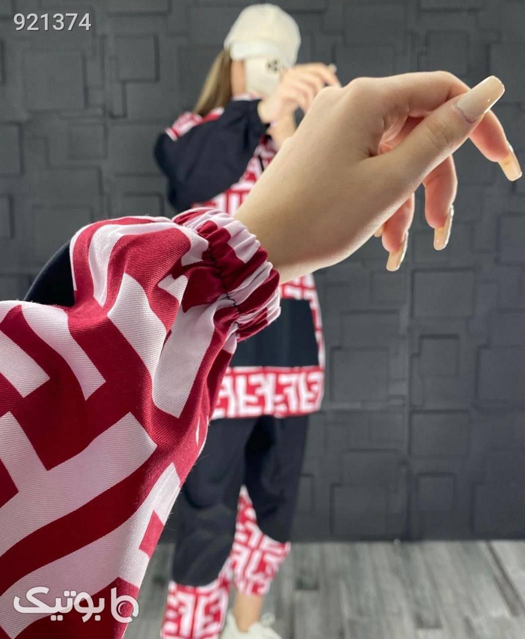 ست هودی شلوار مدل فندی قرمز
