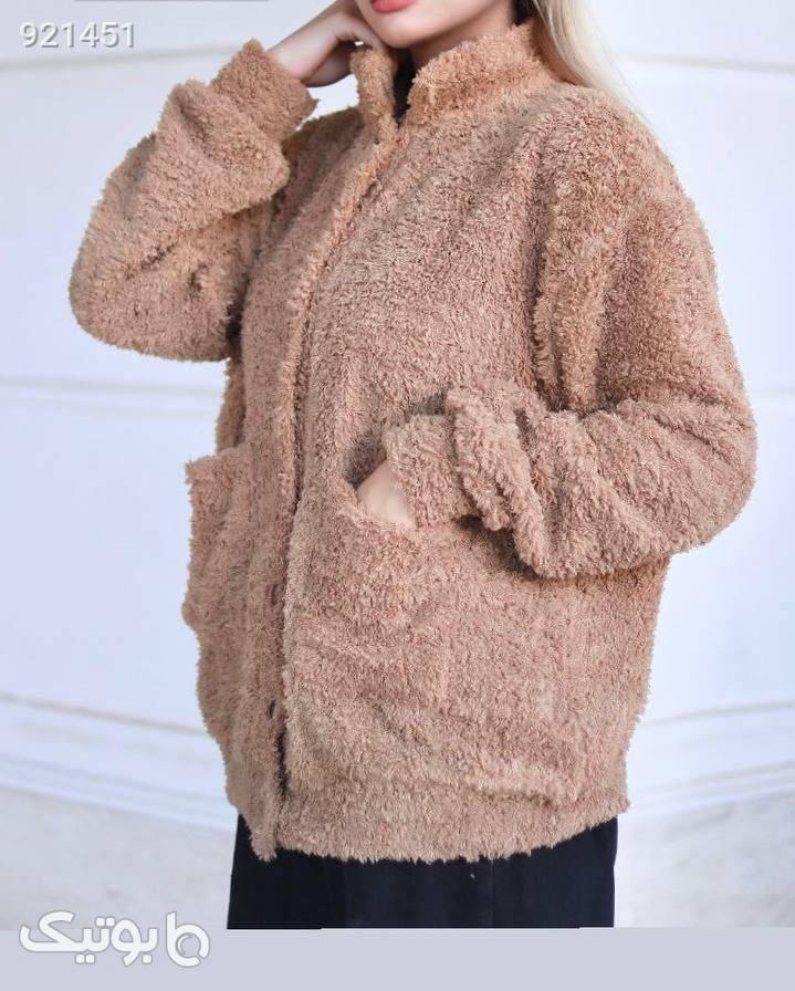 تدی فری سایز قهوه ای پلیور و ژاکت زنانه
