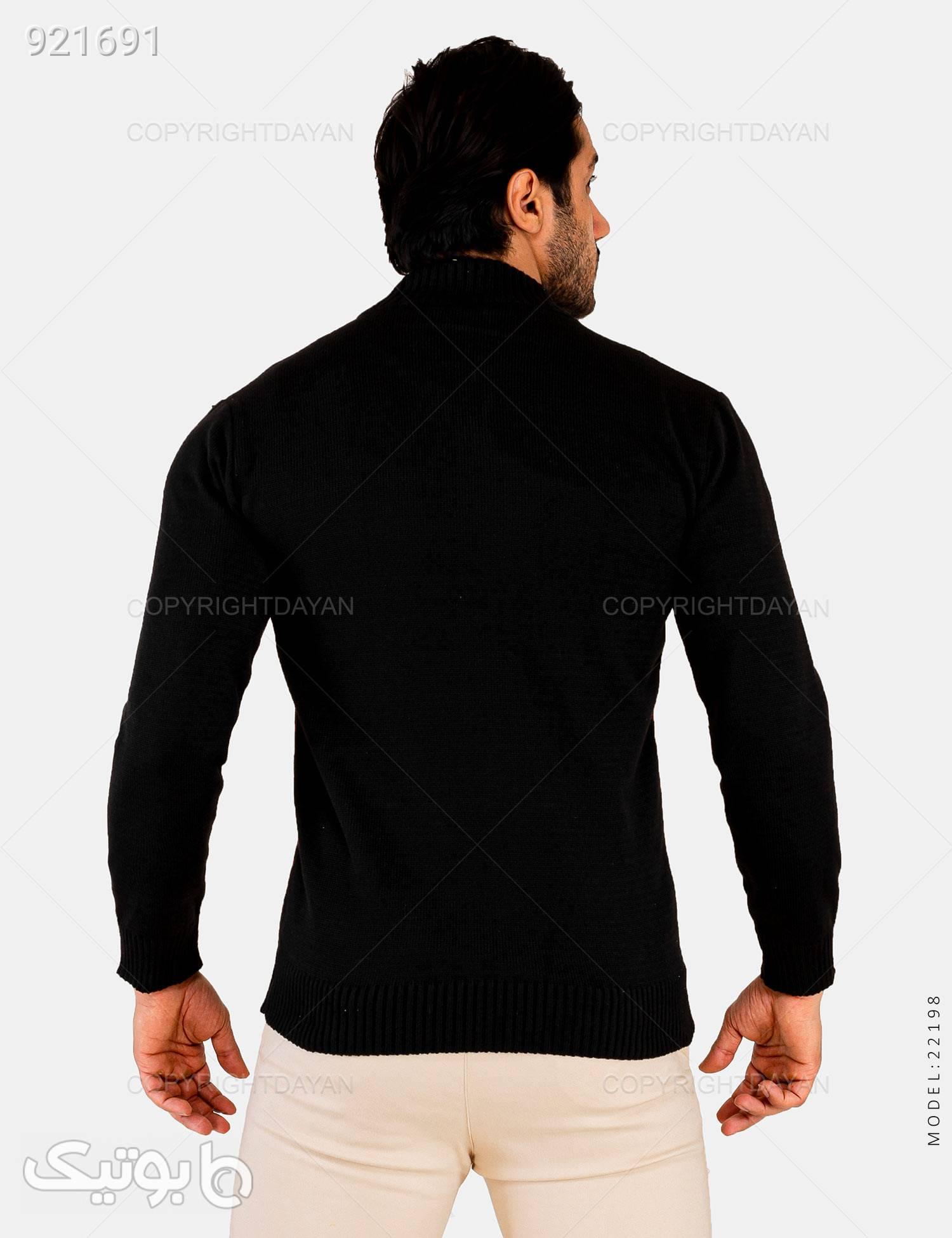 بافت مردانه Rayan مدل 22198 مشکی پليور و ژاکت مردانه