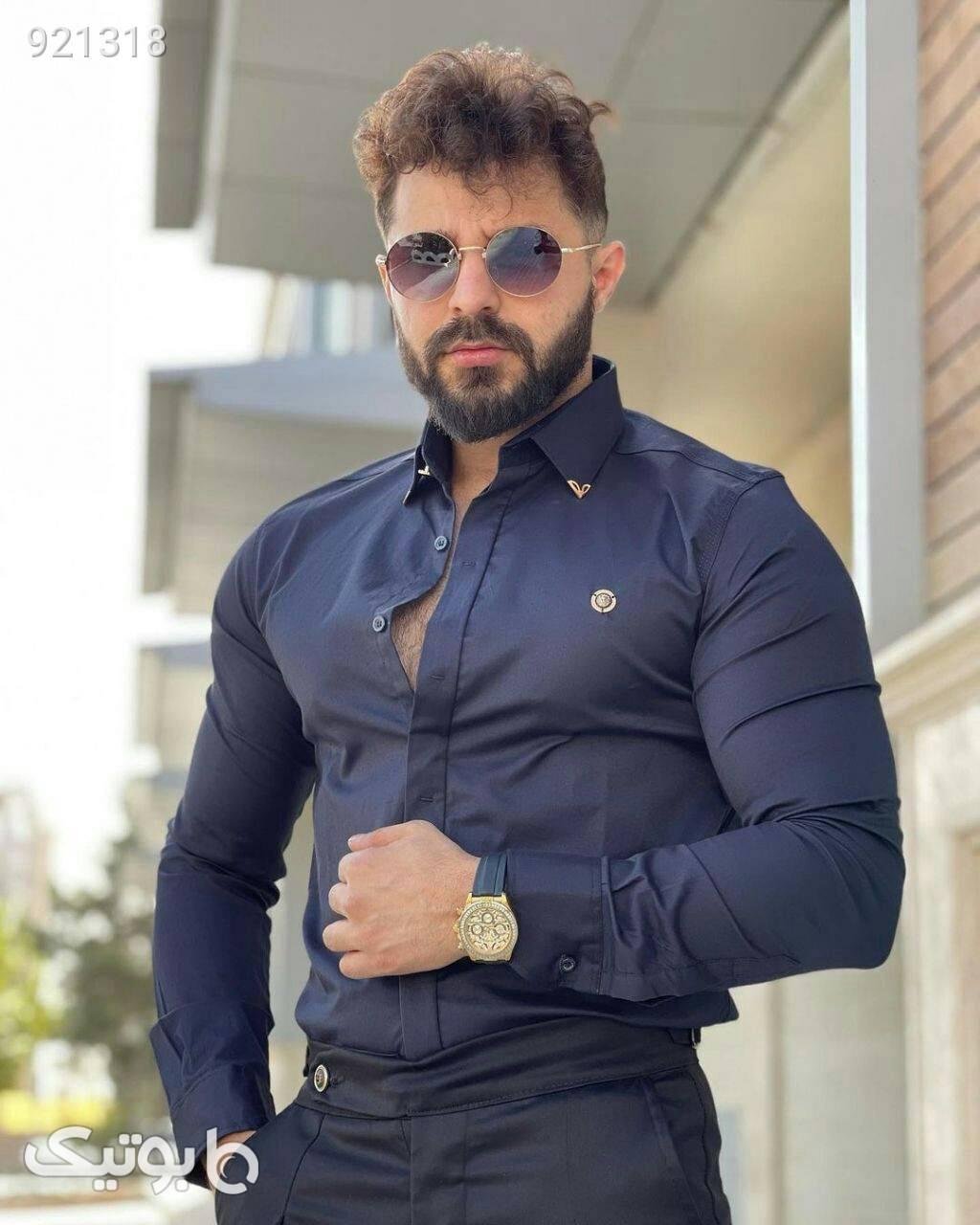 پیراهن جذاب کلاسیک  مشکی پيراهن مردانه