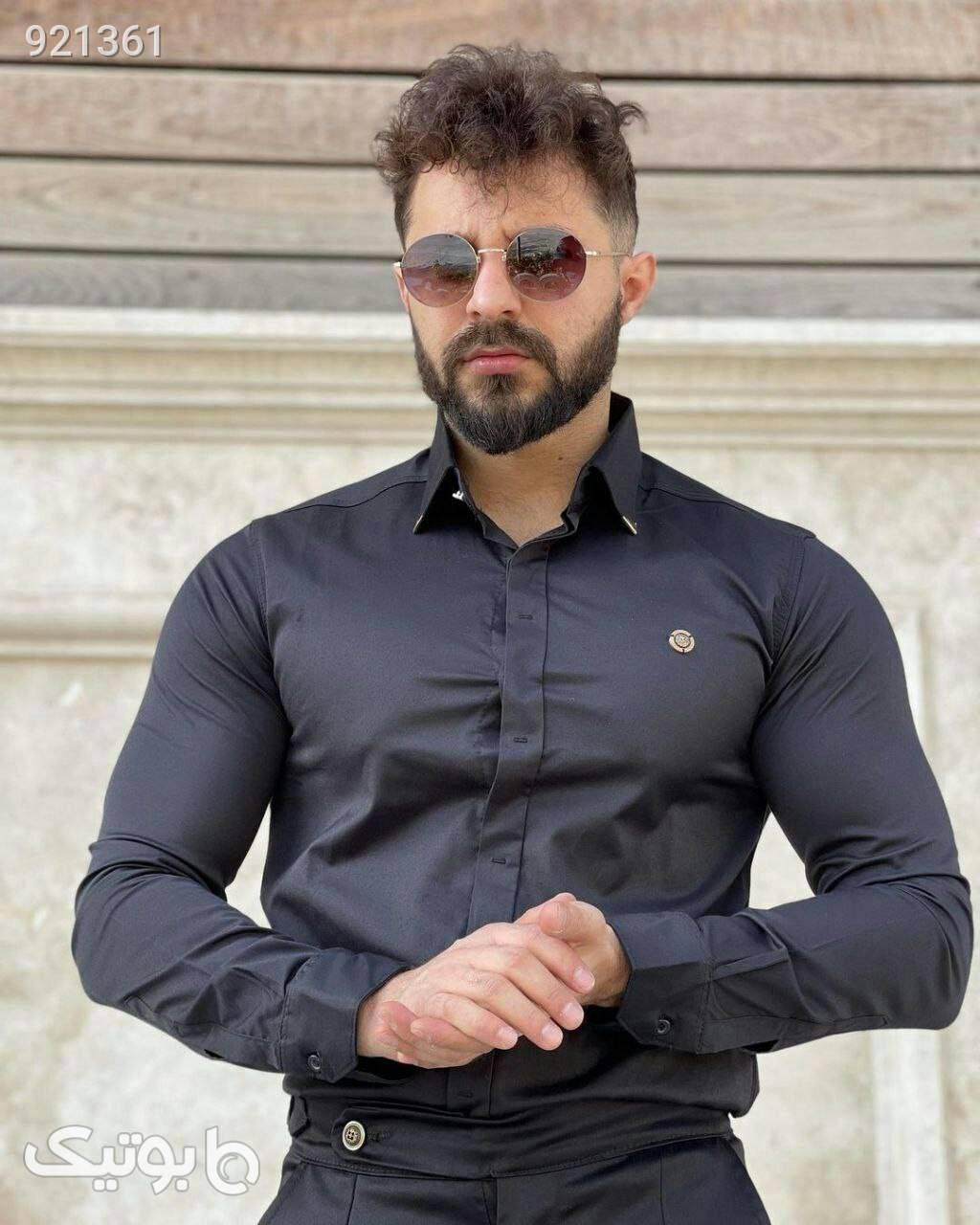 پیراهن کلاسیک ورساچ شلوار و کفش  سورمه ای پيراهن مردانه