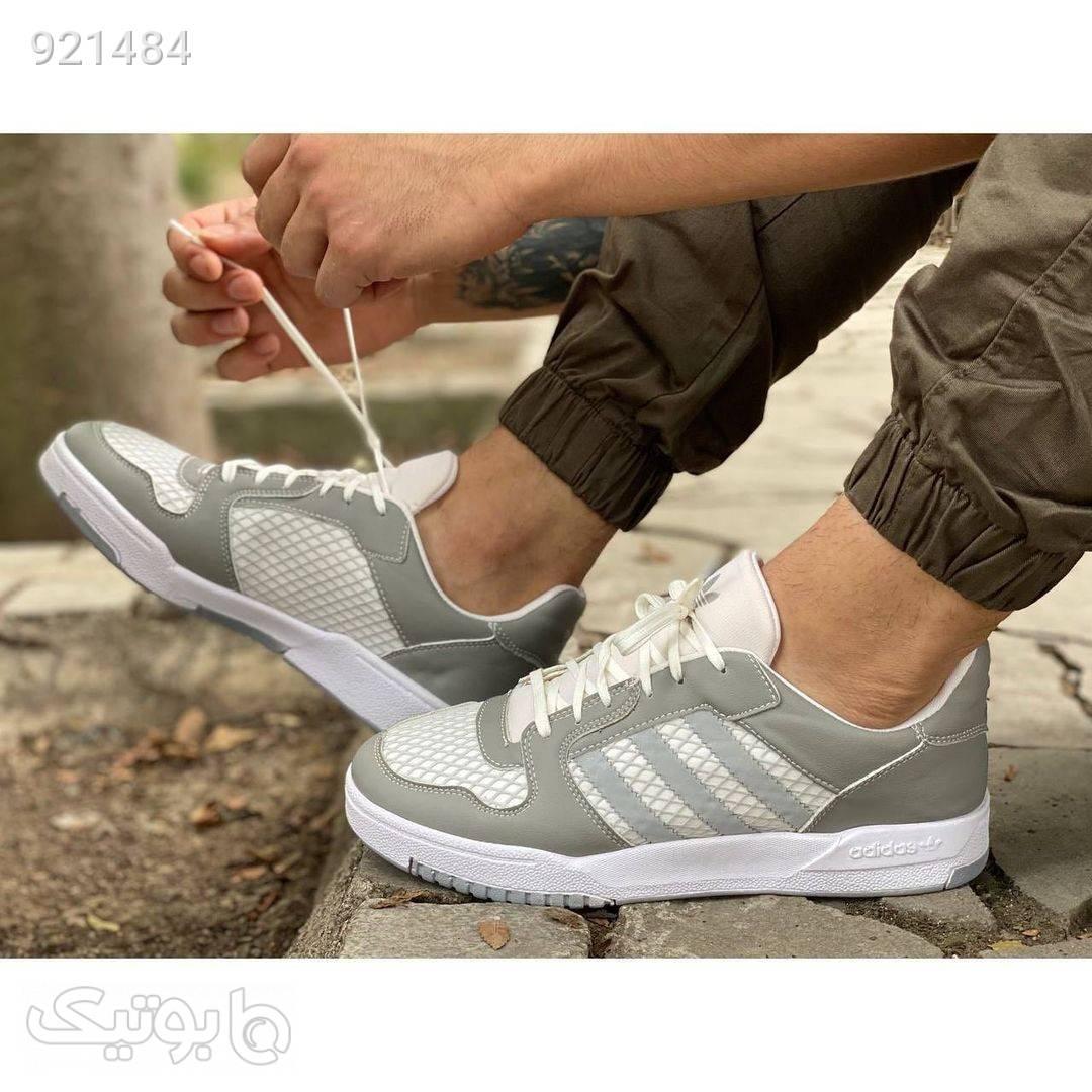 کفش مردانه اسپورت ادیداس نقره ای كتانی مردانه