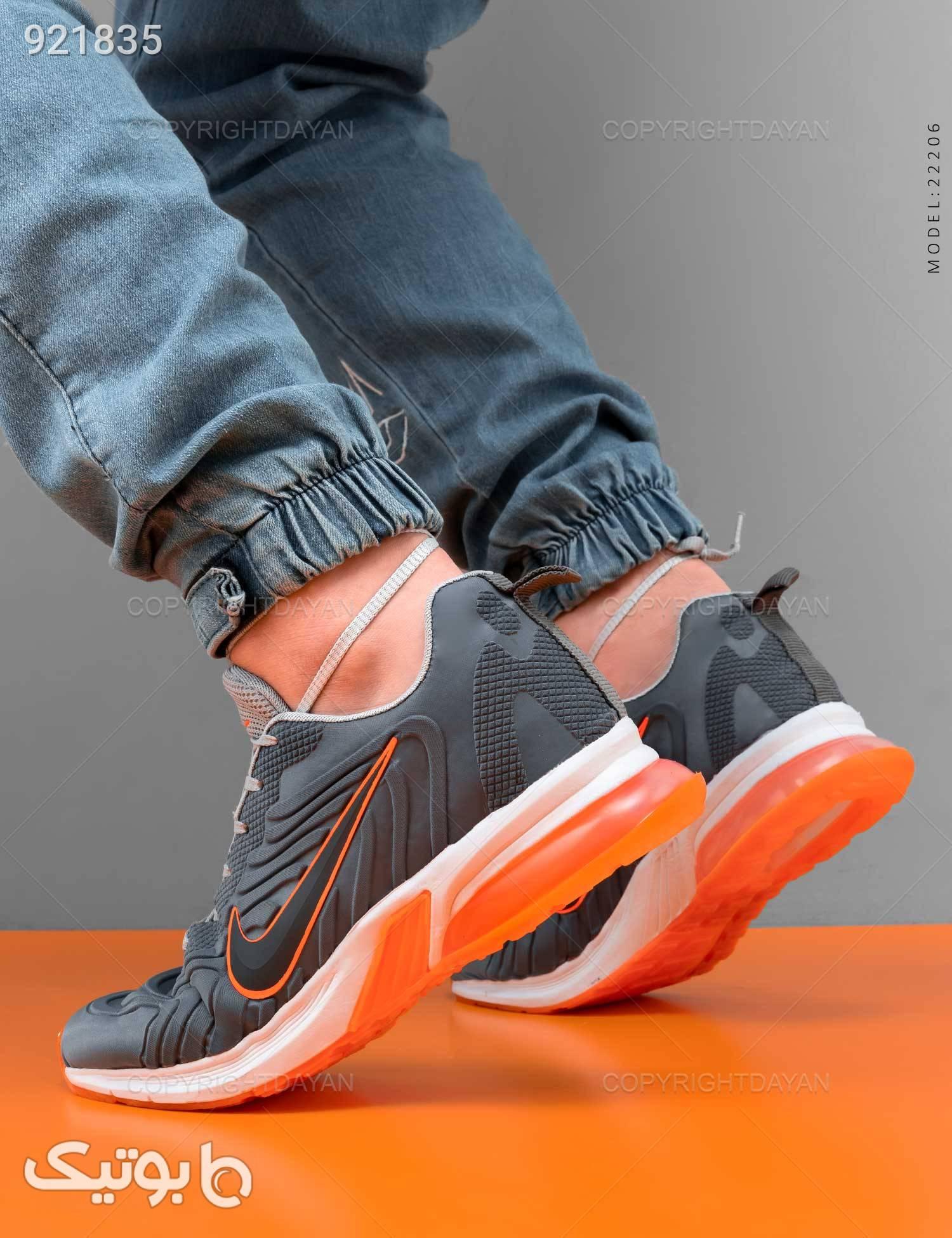 کفش ورزشی مردانه Nike مدل 22206 طوسی كتانی مردانه