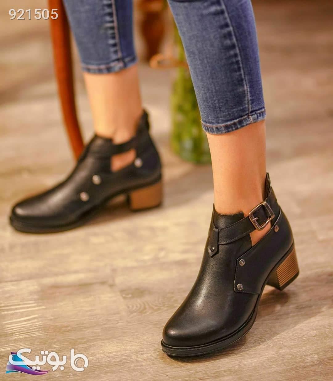 کفش زنانه کارمندی مشکی کفش تخت زنانه