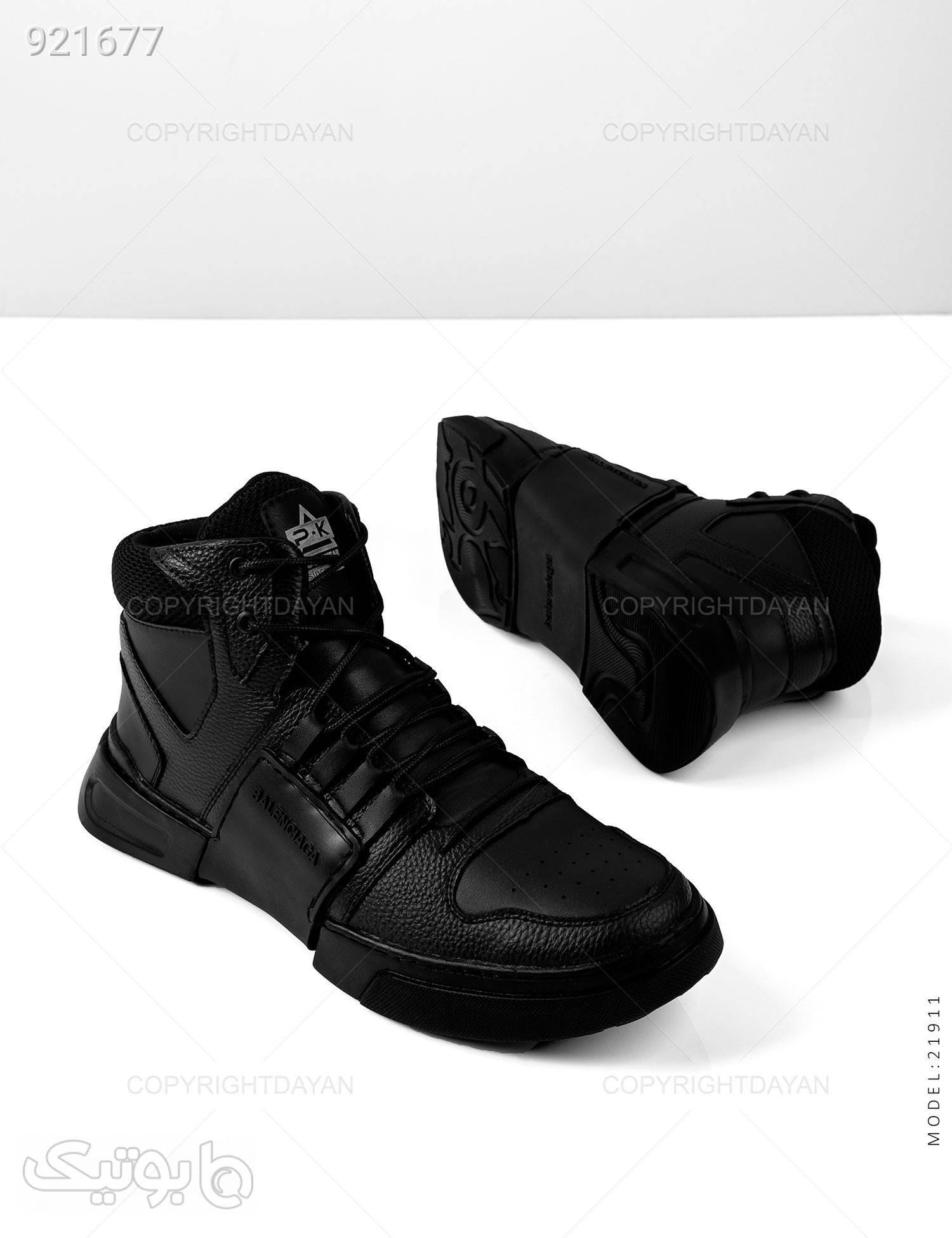 کفش ساقدار مردانه Balenciaga مدل 21911 مشکی كفش مردانه