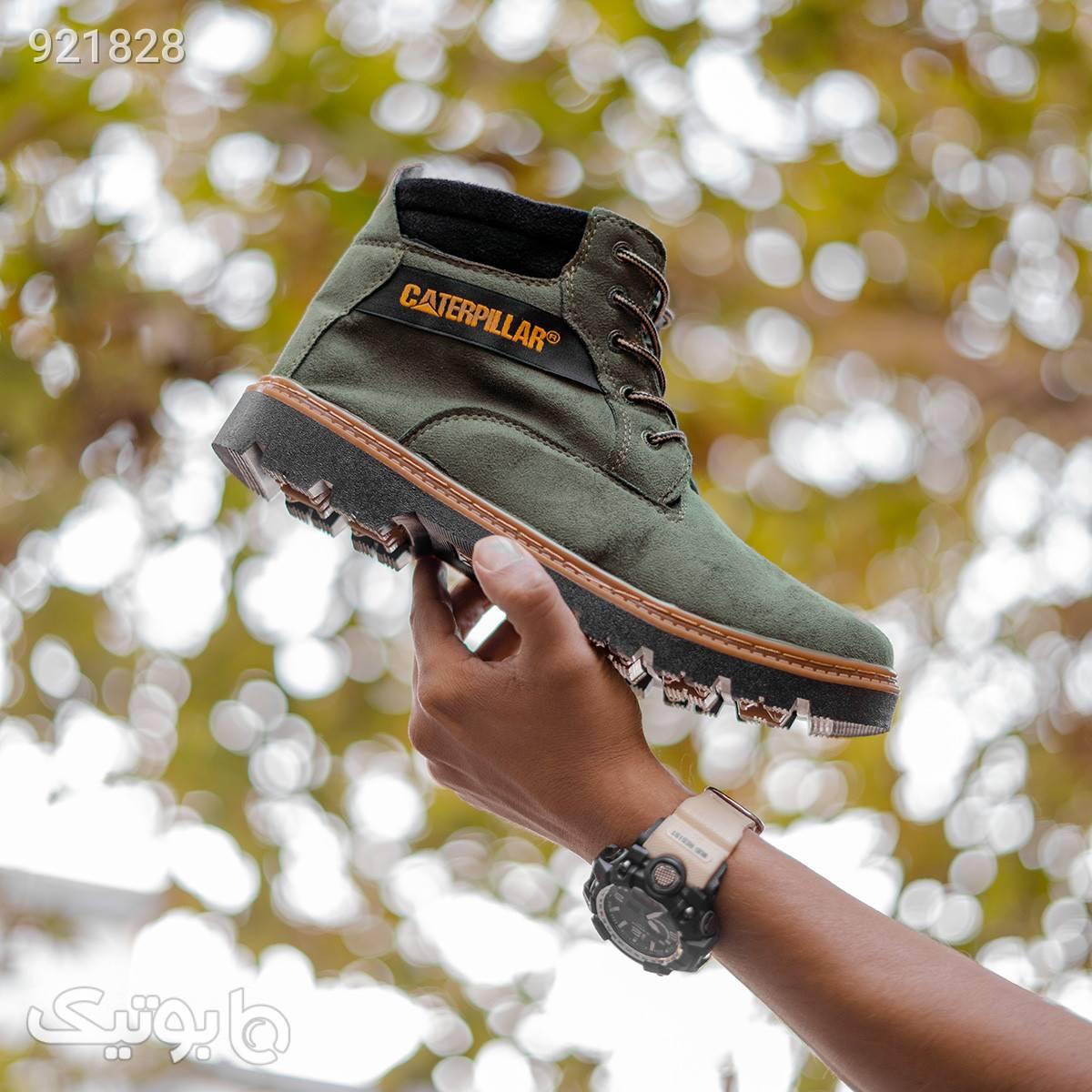 کفش ساقدار CAT مدل AMAX سبز سبز كفش مردانه