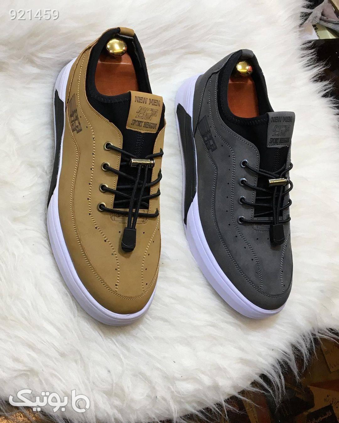 کفش مردونه شیک و راحت طلایی كفش مردانه