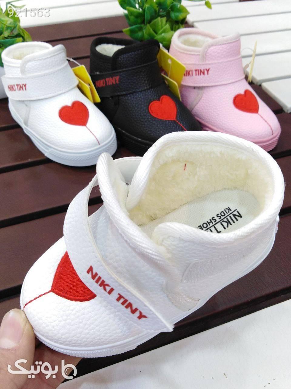 نیم ساق قلبی دخترانه ضدآب قابل شستشو مشکی کیف و کفش بچگانه