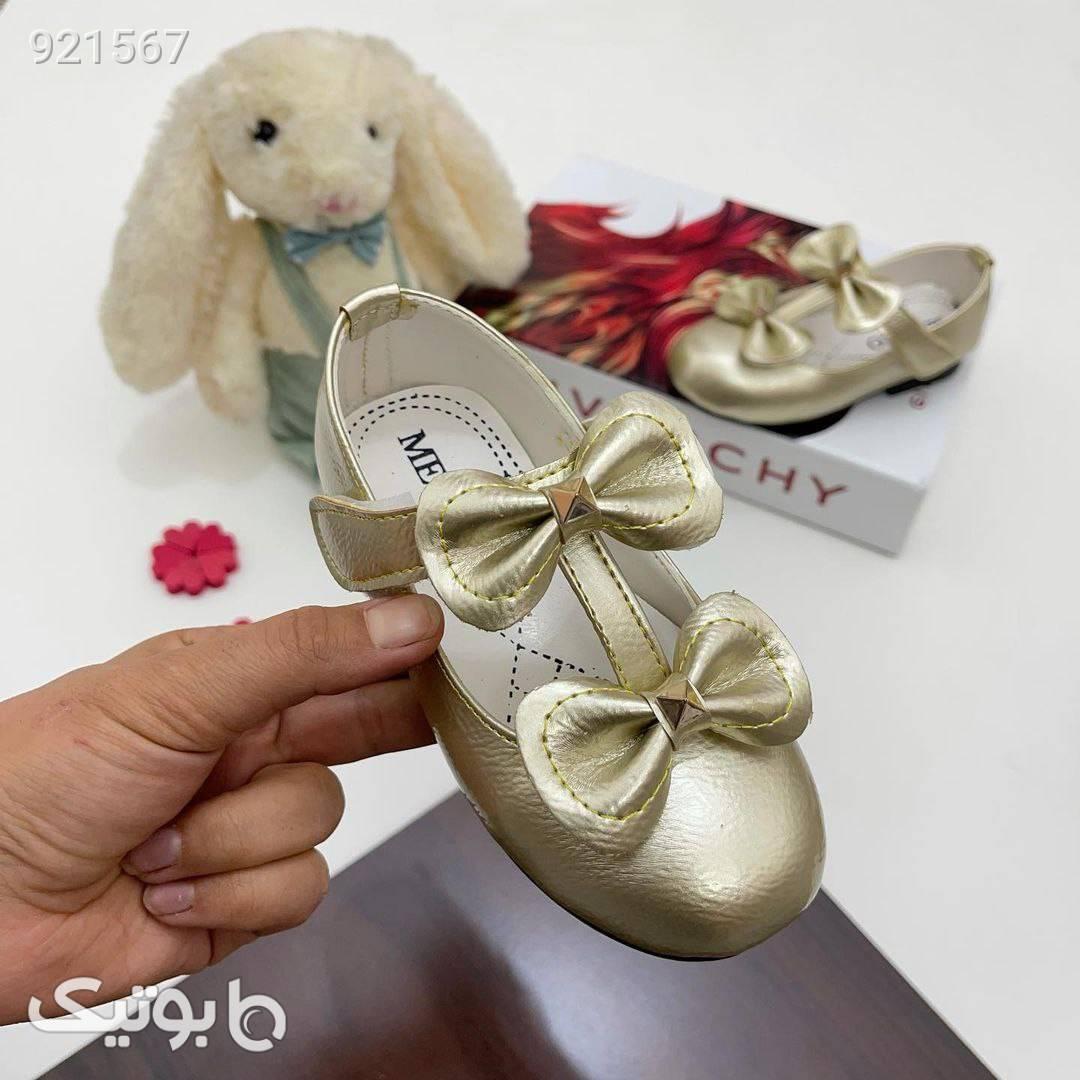 کفش عروسکی دوپاپیون بسیار شیک زرد کیف و کفش بچگانه